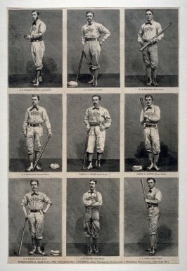 International Baseball - The Philadelphia Athletics - from Harper's Weekly, (July 25, 1874), p. 624