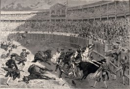 Bull-Fight at Madrid - from Harper's Weekly, (September 5, 1874), p.