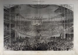 National Temperance Festival at the Crystal Palace- pages 80 & 81 from The Illustrated London News, 27 July 1872