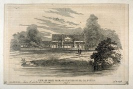View of Hock Farm, on Feather River, California - From Gleason's Pictorial Drawing Room Companion