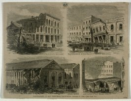 Earthquake in San Francisco, California, October 21, 1868 - from Harper's Weekly