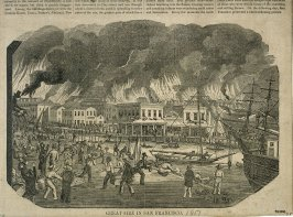 Great Fire in San Francisco - Magazine Illustration