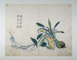 Water-Fay, Camelia and Plum Blossom - from: The Mustard Seed Garden Manual of Painting, Volume III
