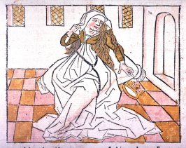 The repentant queen, from Das Heldenbuch (Strasbourg: Johann Prüss, 1479)