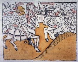Battle at Constantinople, from Das Heldenbuch (Strasbourg: Johann Prüss, 1479)