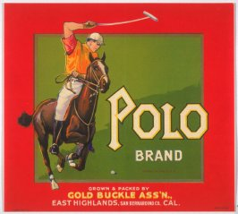Polo Brand, Gold Buckle Assn., East Highland, San Bernardino Co., California