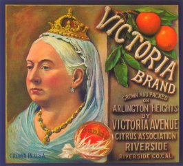 Victoria Brand, Sunkist, Arlington Heights Citrus Association, Riverside, Riverside Co., California