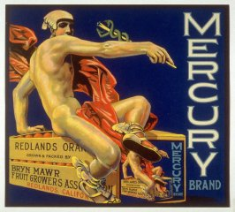 Mercury Brand, Bryn Mawr Fruit Growers Association, Redland, California