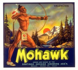 Mohawk Valencias, Santiago Orange Growers Assn., Orange, Orange Co., California