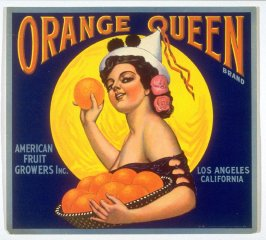Orange Queen Brand, American Fruit Growers Inc., Los Angeles, California