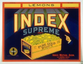 Index Supreme Brand Lemons, Index Mutual Assn., La Habra, California