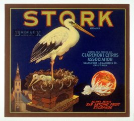 Stork Brand, Sunkist, Claremont Citrus Association, Claremont, Los Angeles Co., California