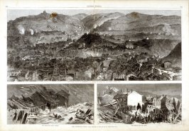 The Pittsburg Flood - from Harper's Weekly, (August 15. 1874), pp. 676 & 677