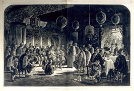A Chinese Reception in San Francisco - from Harper's Weekly, (June 6, 1877), pp. 444 & 445