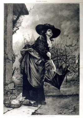 """""""Rainy Weather"""" - from Harper's Weekly, (December 15, 1877), pp. 984 & 985"""