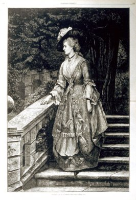 """""""Alone"""" - from Harper's Weekly, (April 1, 1876), pp. 268 & 269."""