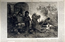 Attacked by the Indians - from Harper's Weekly, (September 16. 1876), pp. 766 & 767