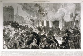 A fire in Constantinople -  from Harper's Weekly, (July 22,1876), pp. 608 & 609