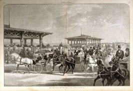The Coney Island Concourse - from Harper's Weekly, (August 4. 1877), pp. 604 & 605