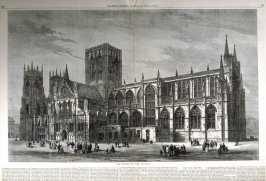 The Minster at York, England -  from Harper's Weekly, (April 7, 1877), pp. 278 & 279