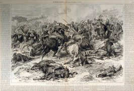 Close of the battle of Kaceljevo-Final Charge on the Turkish Cavalry -  from Harper's Weekly, (November 17. 1877), pp. 914 & 915
