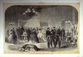 Grand Reception at the White House- from Harper's Weekly, (January. 1862), pp. 56 & 57