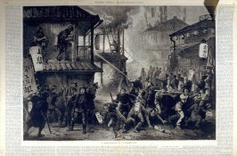 A Conflagration in a Japanese City - from Harper's Weekly, (November, 10 1877), pp. 894-895