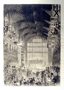 Marriage of His Royal Highness, The Duke of Connaught to Princess Louise Margaret of Prussia, at Windsor - from Harper's Weekly, (March 13, 1879), pp. 288-289
