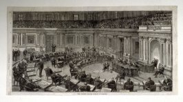 The United States Senate in session - from Harper's Weekly, (1874), p. 21
