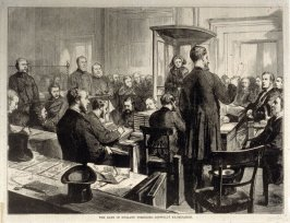 The Bank of England Forgeries, Bidwell's Examination - from Harper's Weekly, (May 17, 1873)