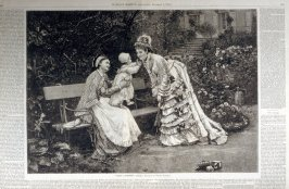 First Caresses - from Harper's Weekly, (December 9, 1876), pp. 1001-1002