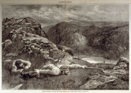 Deer-stalking un the Scottish Highlands- from Harper's Weekly, (January 29. 1876), pp. 88 & 89