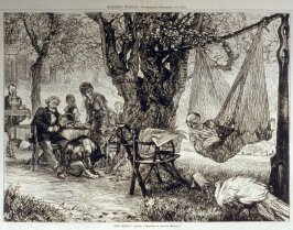 """The Siesta"" - from Harper's Weekly, (September 23.1876), pp. 786 & 787"