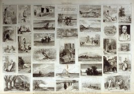 The Water Color Exhibition- Sketches of some of the Pictures from Harper's Weekly, (February 24. 1877), pp. 148 & 149