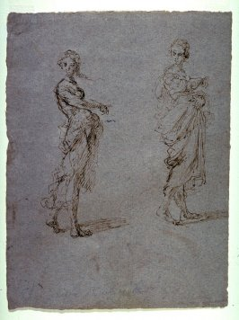 Recto: Two Studies of a Woman, Standing