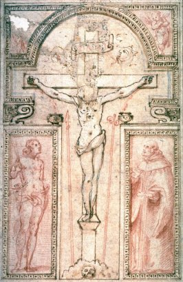 Crucifixion with Two Saints