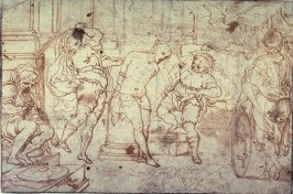 Recto:Flagellation of Christ