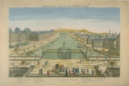 Vue d'optique of the Pont Neuf, Paris