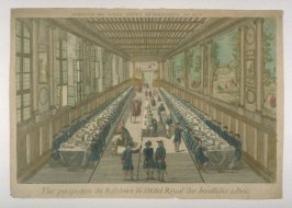 Vue d'optique of the Refectory of the Hotel Royal des Invallides, Paris