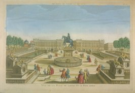 Vue d'optique of the Place de Louis XV