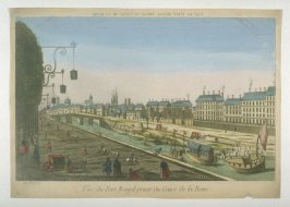 Vue d'optique of the Pont Royal, Paris