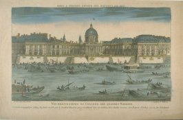 Vue d'optique of the College des Quatres Nations, Paris