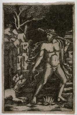 Hercules Fetching Cerberus Up From the Lower World, from a series of The Labors of Hercules