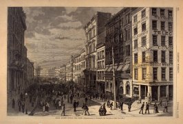 Broad Street During the Panic, from Harper's Weekly, (11 October 1873), p. 892