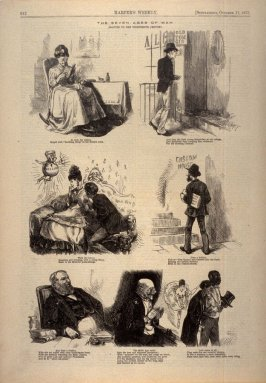 The Seven Ages of Man, from Harper's Weekly, (11 October 1873), p. 912