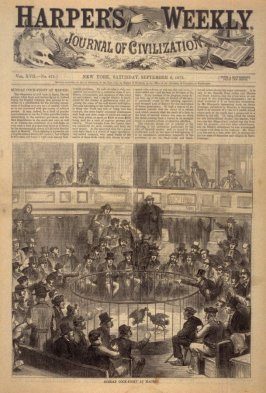 Sunday Cock-Fight at Madrid, Title page from Harper's Weekly, (6 September 1873)