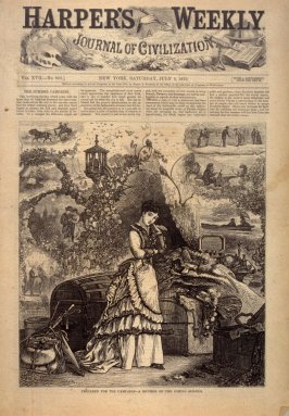Prepared for the Campaign - A Reverie of the Coming Summer - Title page from Harper's Weekly, (5 July 1873)