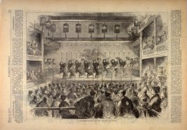 A Japanese Ballet at the Theatre of Kyoto, from Harper's Weekly (15 March 1873), p. 213