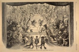 "Mardi Gras in New Orleans - Grand Tableau of the ""Mistick Krewe"", from Harper's Weekly, (29 March 1873), p. 244"