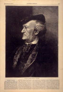 Richard Wagner, Musical Composer , from Harper's Weekly, (27 September 1873), p. 853